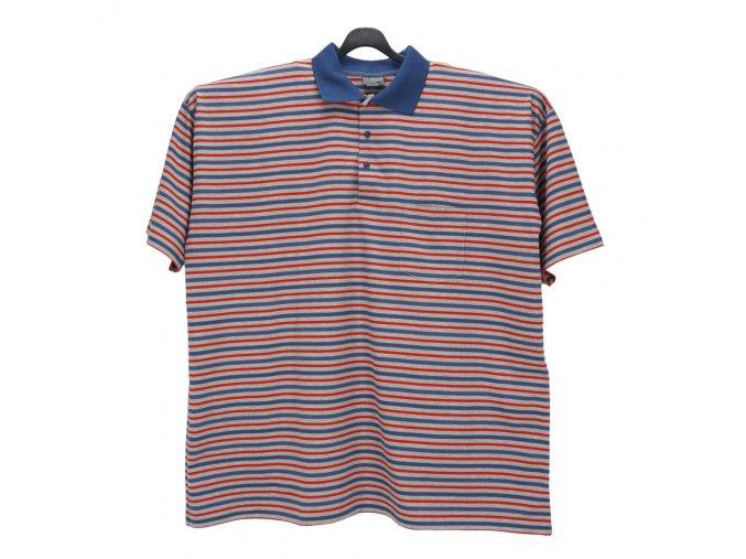Pánské nadměrné tričko melír modrá červená KL
