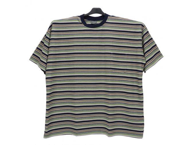 Pánské nadměrné tričko modrá šedá hnědá KU