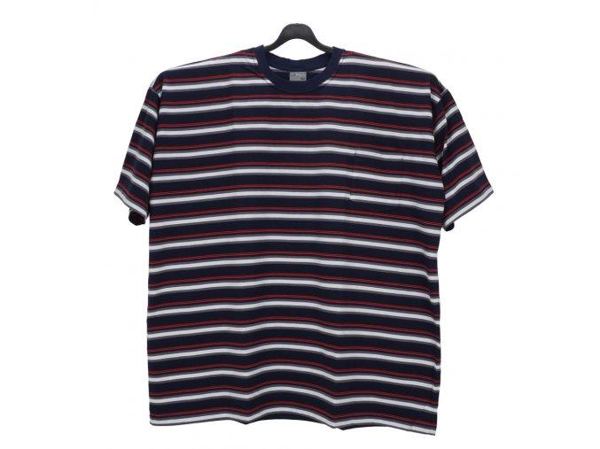 Pánské nadměrné tričko modrá bílá červená KU