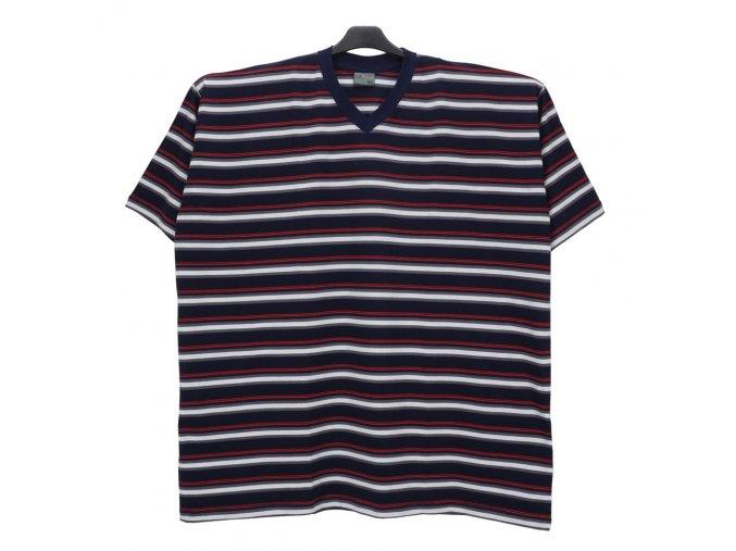 Pánské nadměrné tričko modrá bílá červená KV