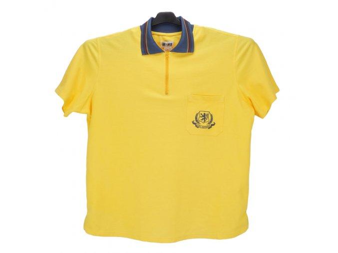 Pánské nadměrné tričko žluté piké KL