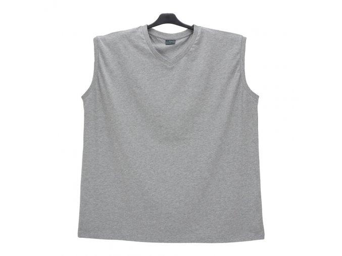 Pánské nadměrné tričko bez rukávů šedé BV