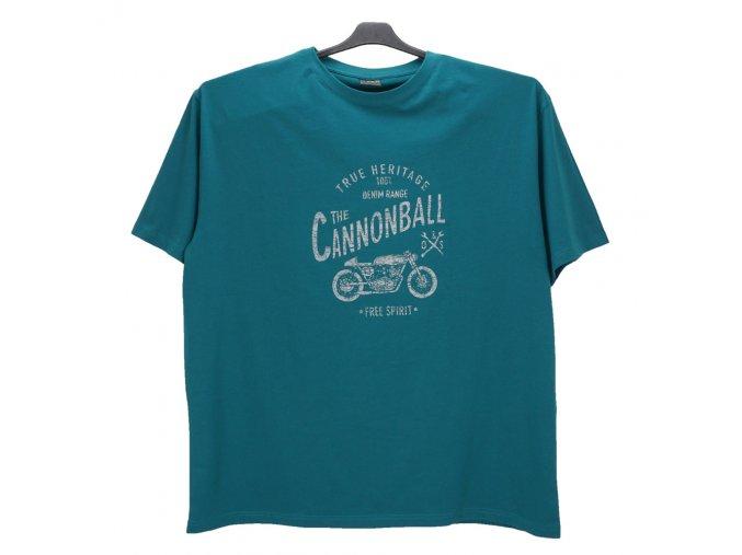Pánské nadměrné tričko zelené s potiskem KPU