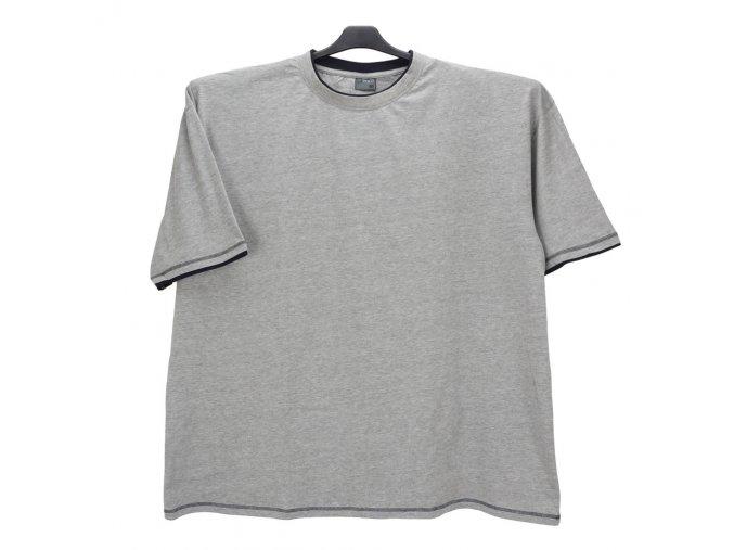 Pánské nadměrné tričko šedé modrá KU
