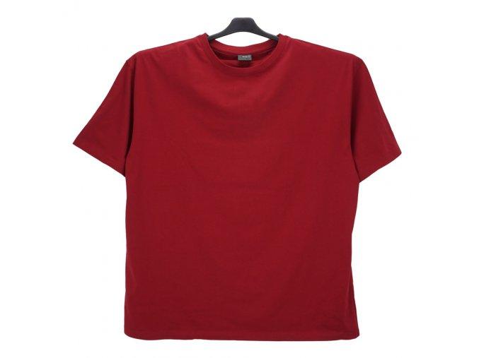 Pánské nadměrné tričko vínové hladké KU