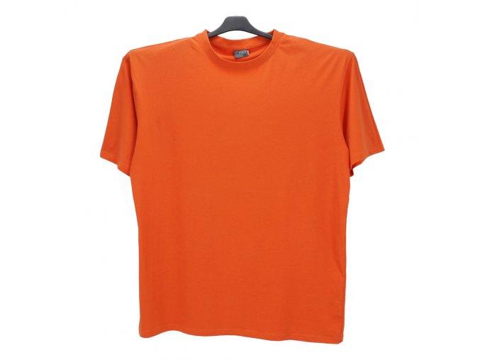 Pánské nadměrné tričko oranžové KU