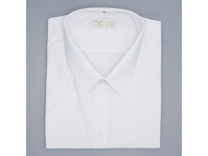Pánská nadměrná košile bílá nitka K1