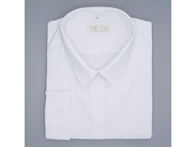 Pánská nadměrná košile bílá šipky D