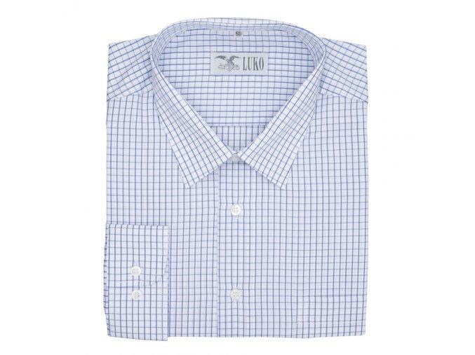 Pánská nadměrná košile modrá kostka na bílé D
