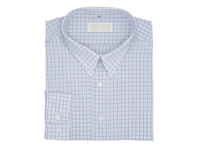 Pánská nadměrná košile modré kostky D
