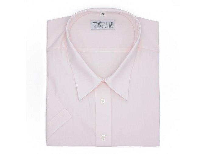 Pánská nadměrná košile světle růžová K1