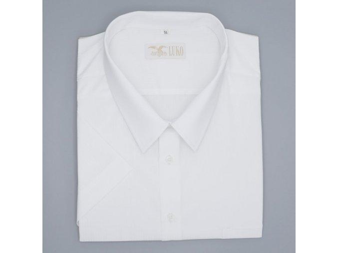 Pánská nadměrná košile bílá s tenkým proužkem K1