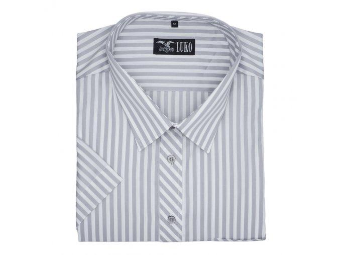 Pánská nadměrná košile šedá pruh K1