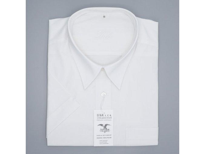 Pánská nadměrná košile bílá bavlna K1