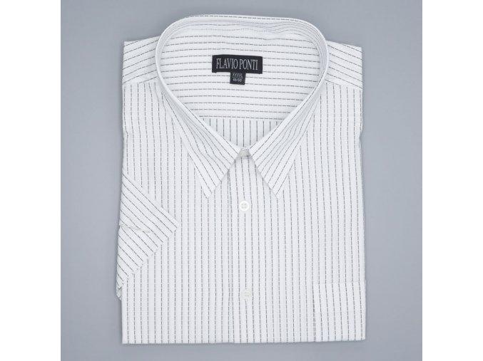 Pánská nadměrná košile bílá s černými proužky K1