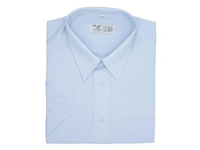 Pánská nadměrná košile světle modrá hladká K1
