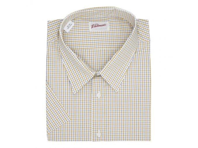 Pánská nadměrná košile žlutá kostka K1