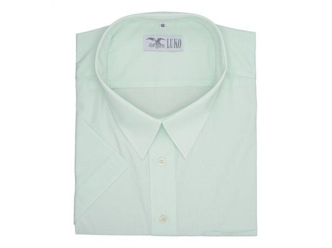 Pánská nadměrná košile světle zelená hladká K1