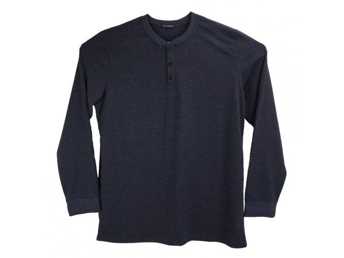 Pánské dlouhé tričko antracit s knoflíčky Ewident D