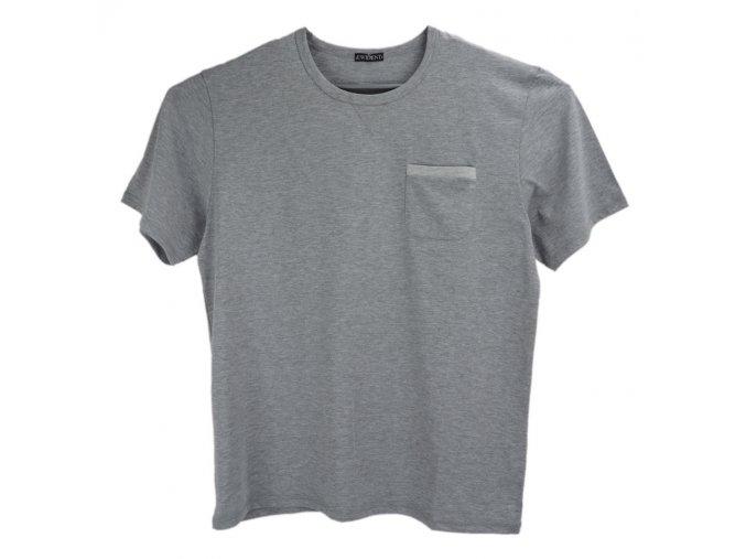 Pánské dlouhé tričko šedé U Evident K