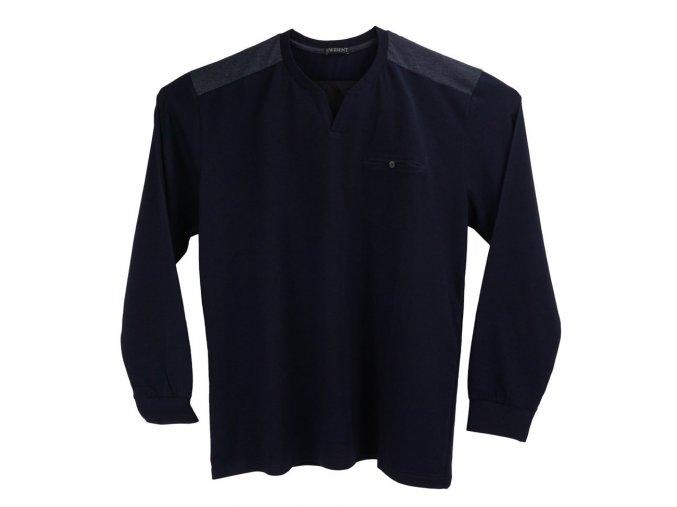 Pánské dlouhé tričko tmavě modré Ewident D