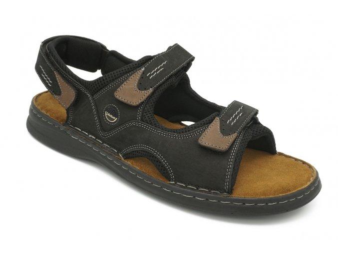 Pánské nadměrné sandály černé Seibel 1