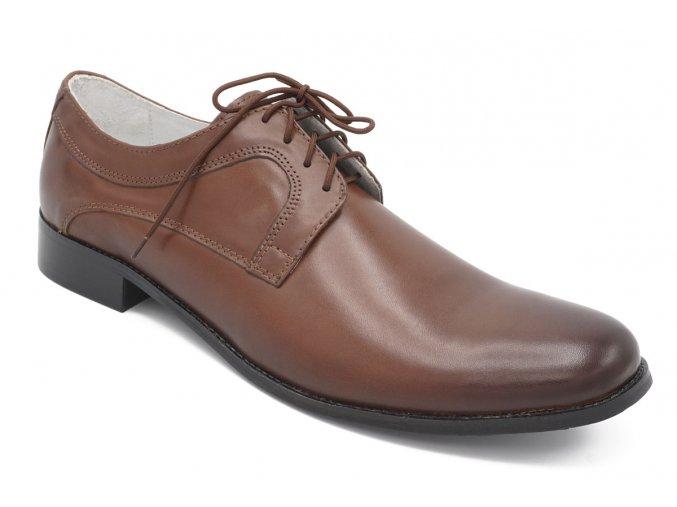 Pánské nadměrné společenské boty hnědé 1