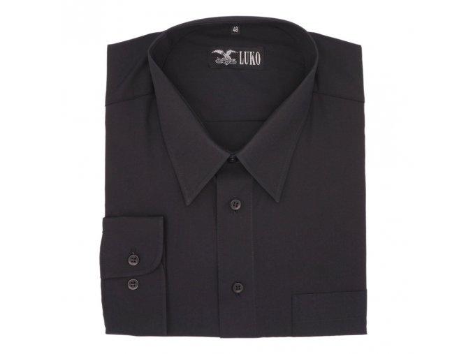 Košile černá hladká 1D