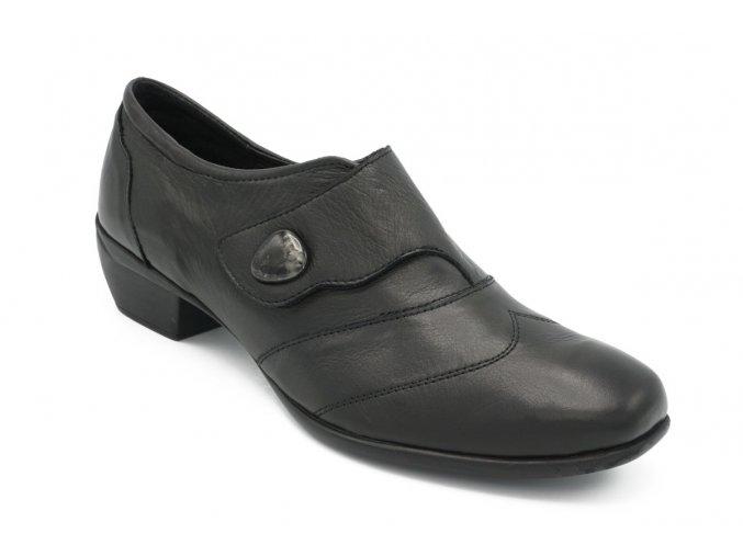 Dámské nadměrné kotníkové boty černé 1