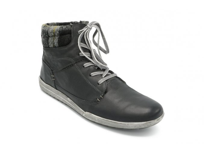 Dámská nadměrná zimní obuv kotníková káro 1