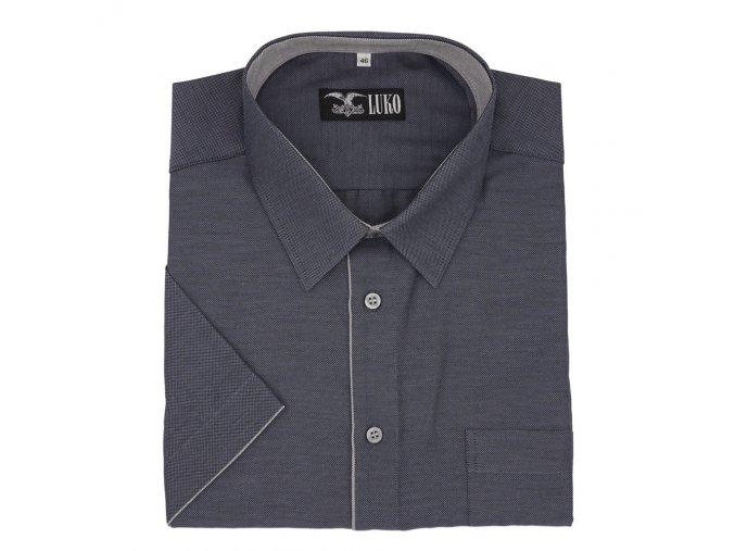 Pánská košile popelavě šedá tmavá K1 194107