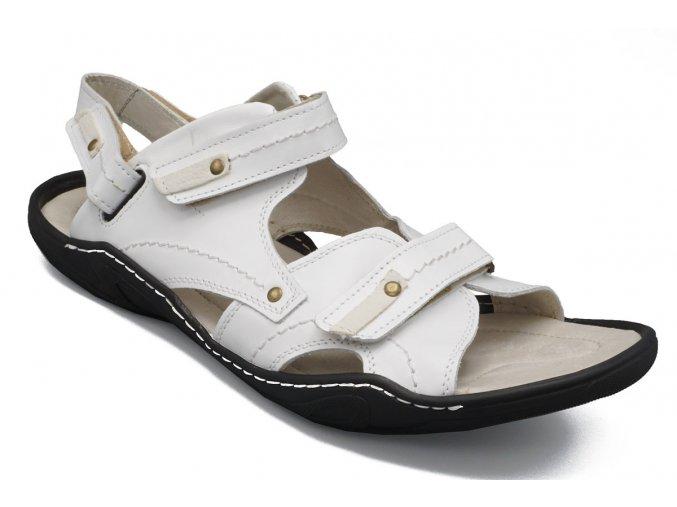 Pánské nadměrné sandály bílé 1