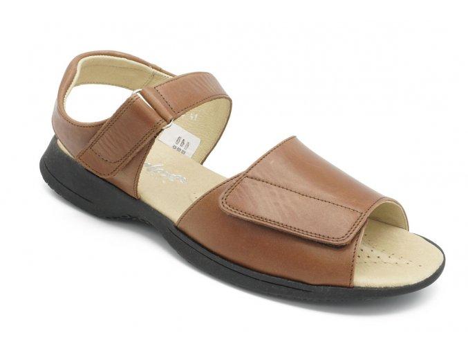 Dámské sandály hnědé 1