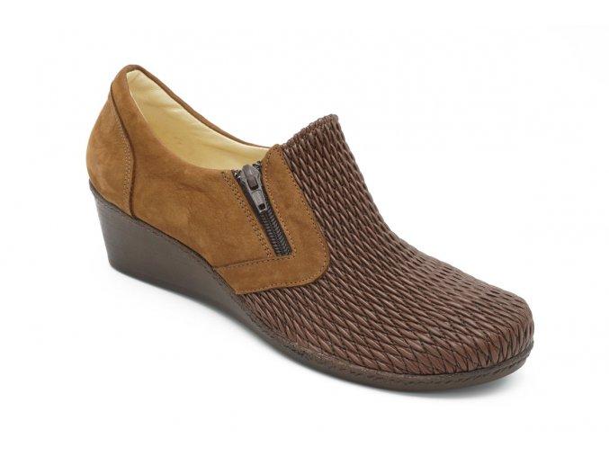Dámské hnědé pružné boty 1