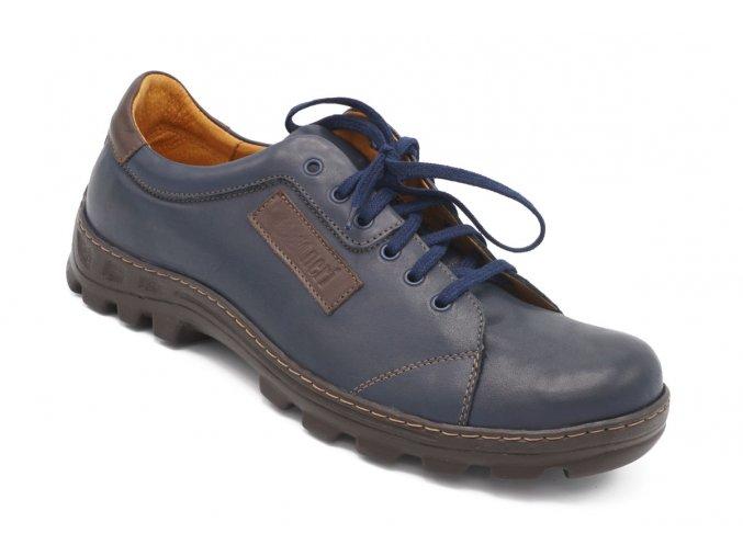 Pánské nadměrné vycházkové modré boty 1