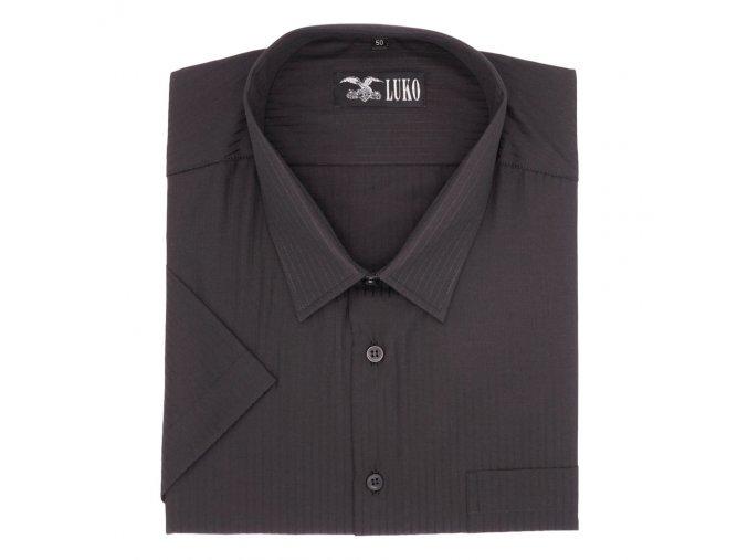 Pánská nadměrná košile černá s proužkem K 1