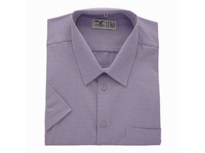 Pánská nadměrná košile fialová s nitkou K 154150 1