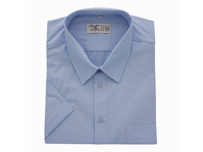 Pánská košile světle modrá s tečkou K 154150 1