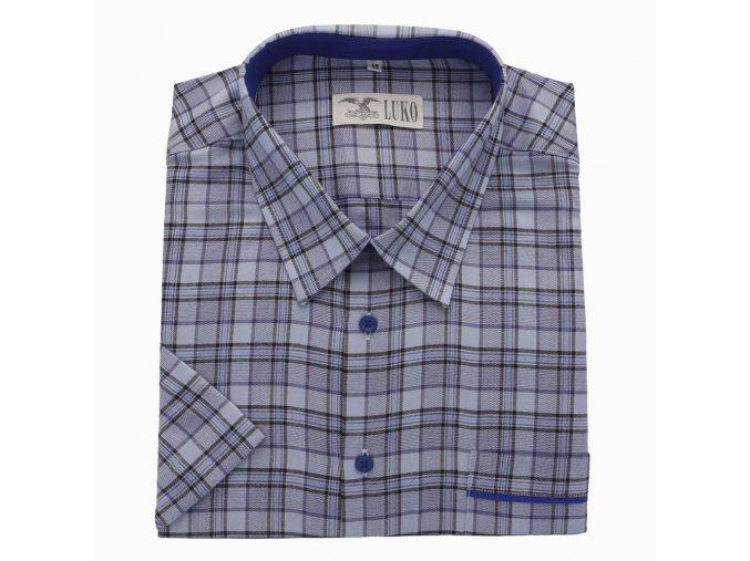 Pánská košile modré velké káro K 154150 1