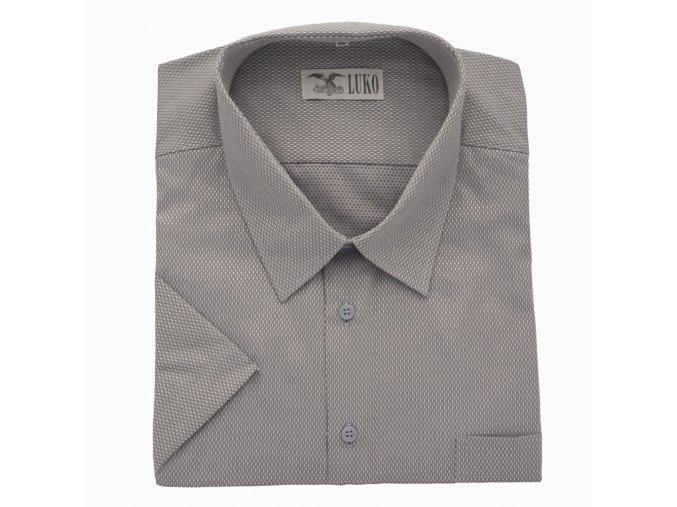 Pánská nadměrná košile šedá stříbro K 1