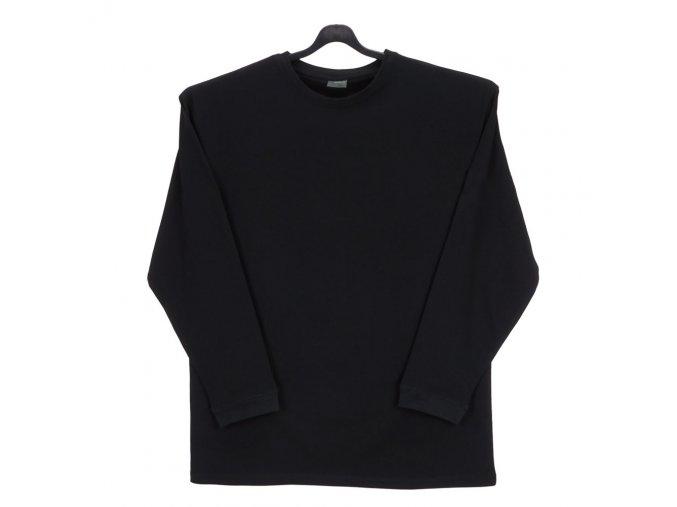 Pánské tričko černé dlouhý rukáv DU