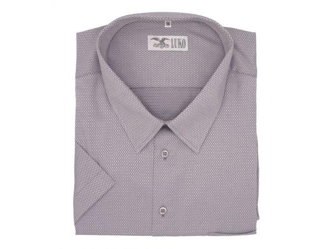 Pánská nadměrná košile šedá kosá tečka K 1