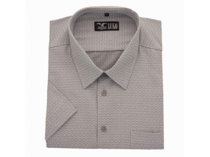 Pánská nadměrná košile šedá čárová kostka K 1