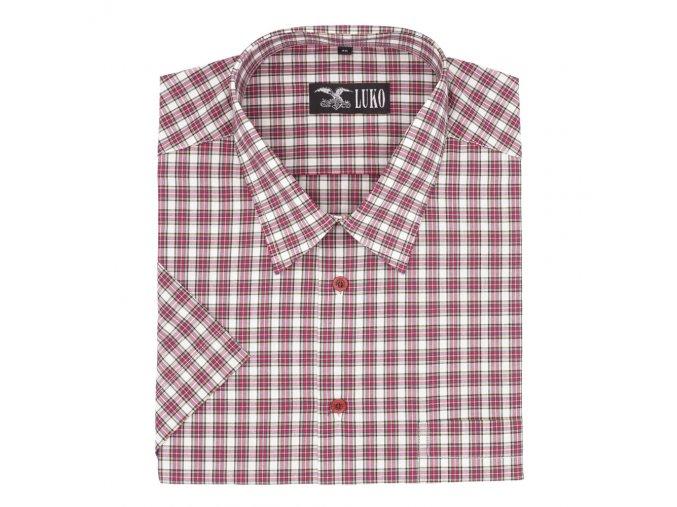 Pánská košile kostka červená s bílou K1