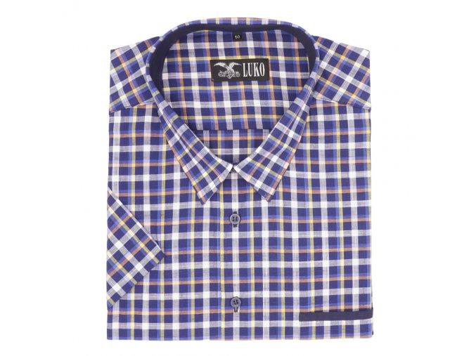 Pánská košile barevná kostka modrá K1
