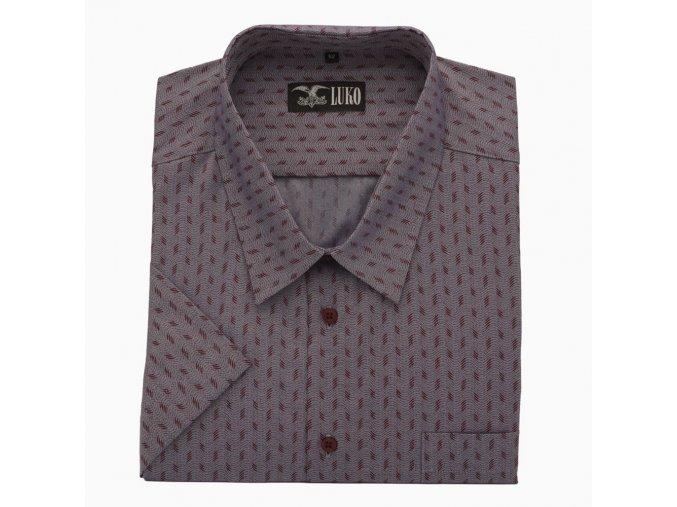 Pánská košile vínová čtyřka K 1
