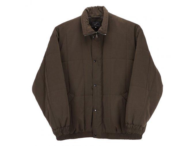 Pánská zimní bunda s gumou hnědá H