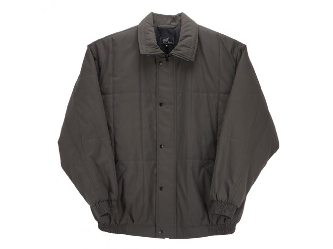 Pánská zimní bunda s gumou tmavě šedá H