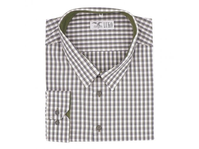 Pánská košile myslivecká zelená kostka D1