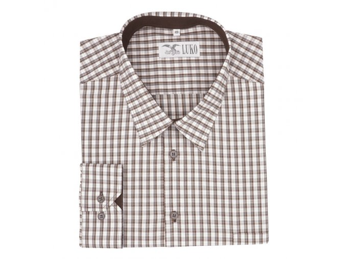 Pánská myslivecká košile hnědá D1